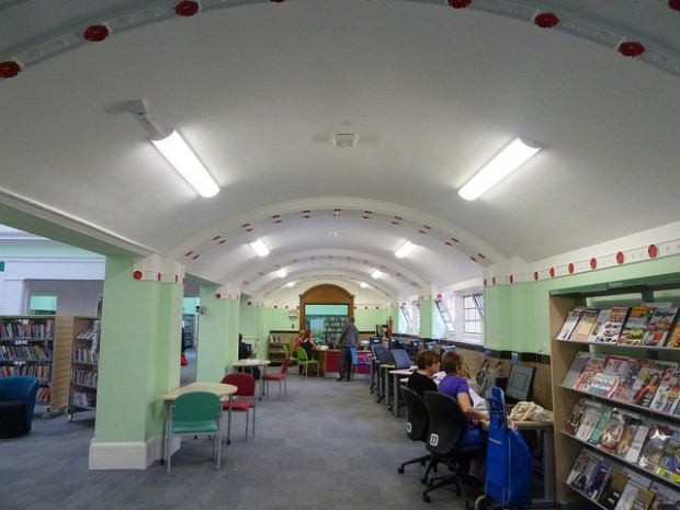 Upstairs in Northampton library