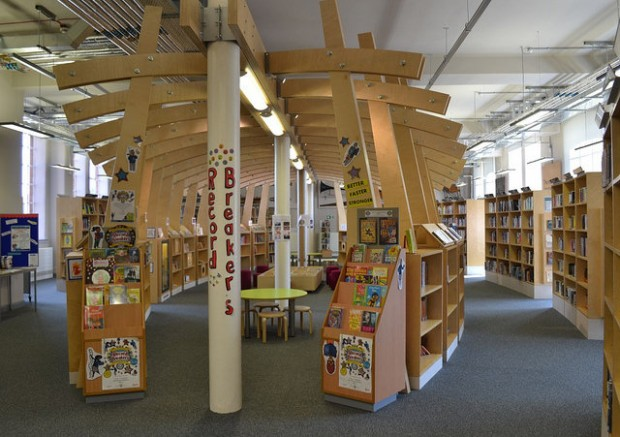 Childrens section at the heart of Market Harborough library