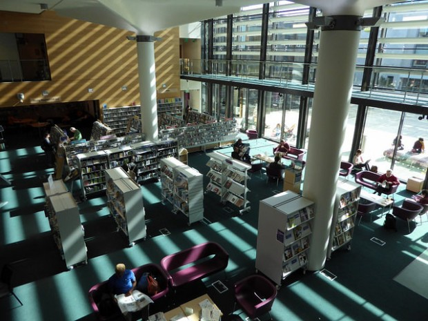 Inside Brighton library
