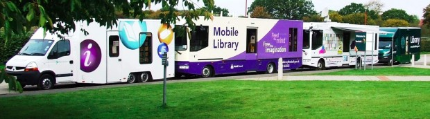 line of mobile libraries