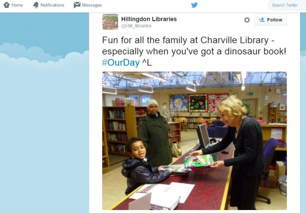 Hillingdon libraries take part in #OurDay 2014