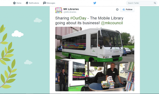 Milton Keynes mobile libraries #OurDay