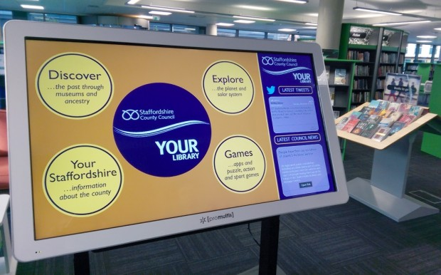 One of the digitables in Stafford library.