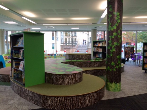 Children's section in the new Stafford library
