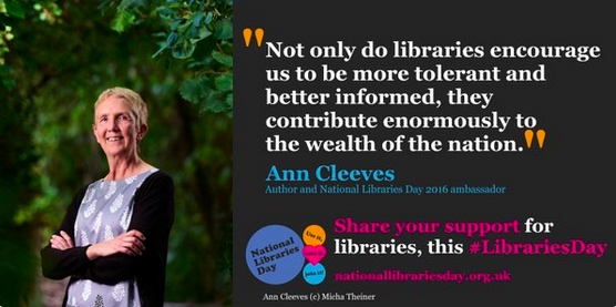 Anne Cleeves, National Libraries Day Ambassador