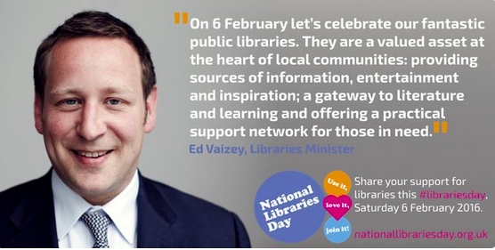 Libraries Minister Ed Vaizey.
