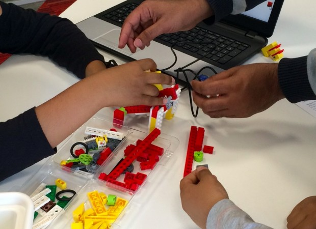 LEGO club in action in Hounslow library.