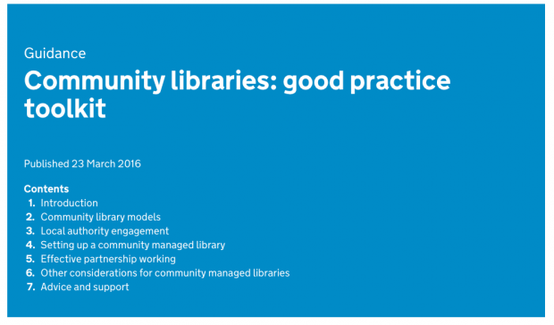 Screenshot of the Community Libraries toolkit