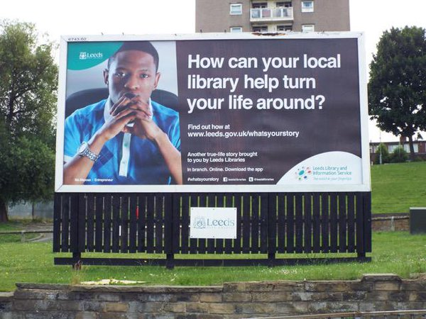 Billboard showing Ma Maposa. Photo credit: Leeds libraries