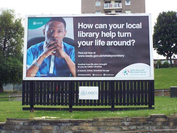 Billboard showing Ma Maposa. Photo credit: Leeds libraries