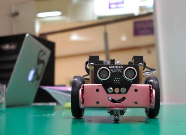Makeblock robot at the Code Green event. Photo credit: Ben Lee