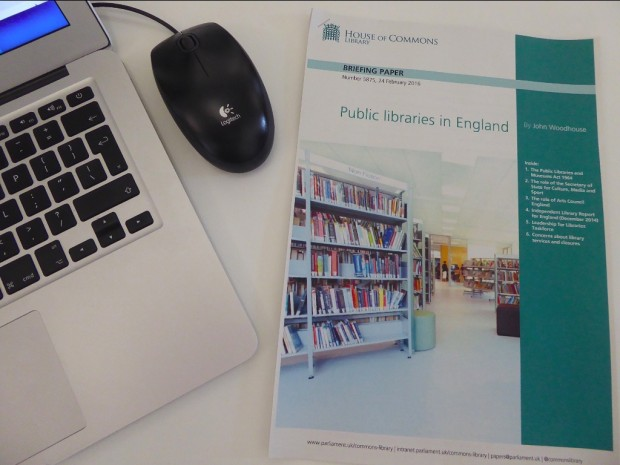 Report on Public Libraries in England