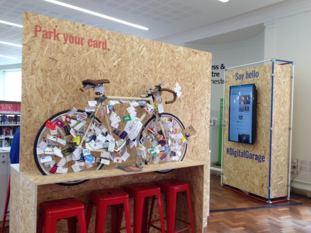 Google Digital Garage in Manchester Central Library. Photo credit: Helen Milner/Tinder Foundation
