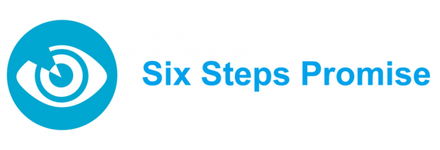 Logo for the Six Steps Promise