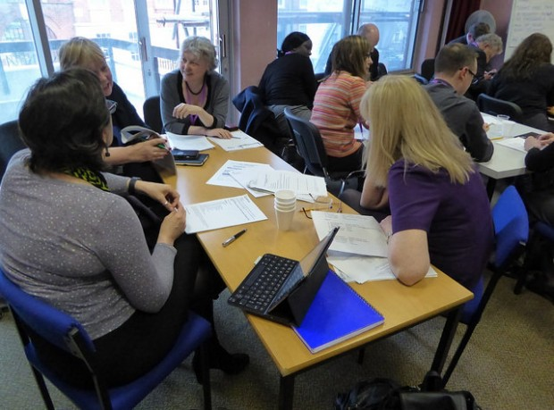 Sharon taking part in one of the consultation workshops discussing Ambition. Photo credit: Julia Chandler/Libraries Taskforce