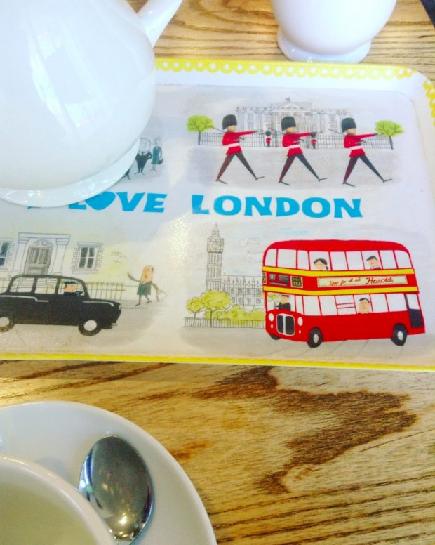 Tea and London - occasional recurring themes in this post. Photo credit: Margaret Craft