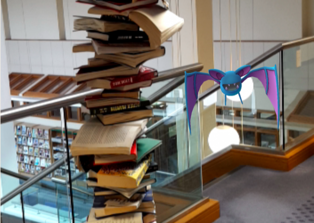 Caught in Jersey library. Photo credit: Ed Jewell/Jersey Libraries