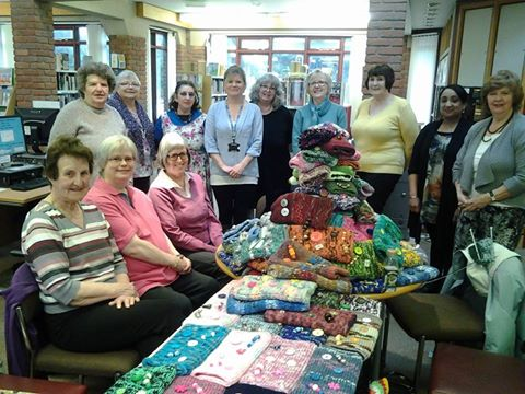 Olton Library Knit and Natter group. Photo credit: xx