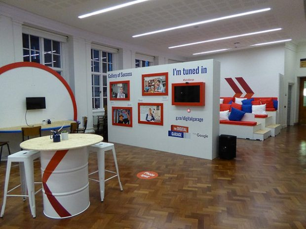 Google Digital Garage in Manchester Central Library. Photo credit: Julia Chandler/Libraries Taskforce