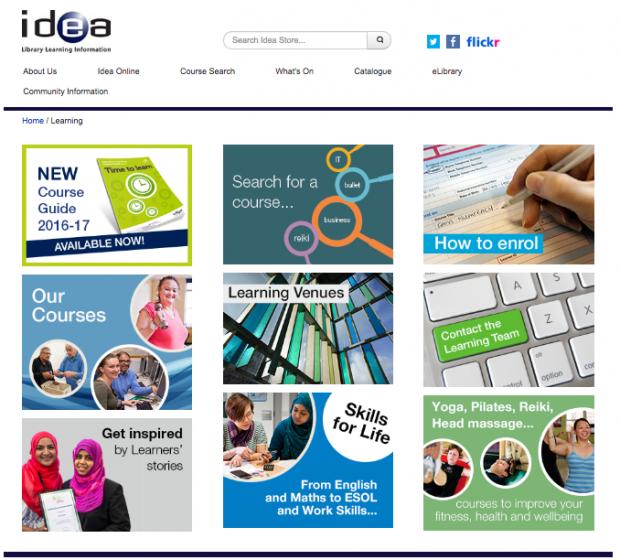 Idea Store website