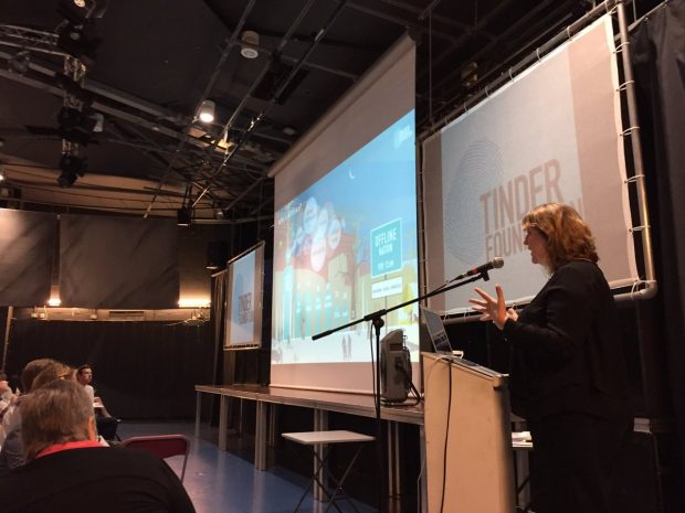 Helen Milner, Tinder Foundation CEO gives keynote introduction at the event. Photo credit: Tinder Foundation