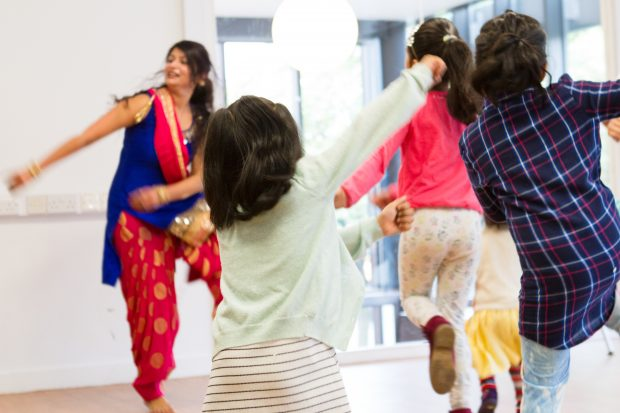Bhangra at Longsight library Fun Palace. Photo credit: Manchester libraries