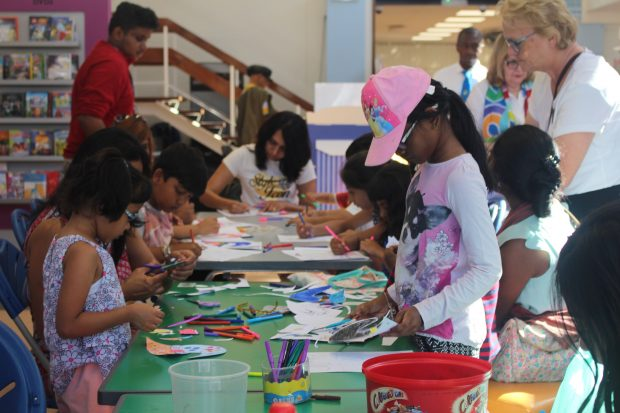 Craft events are a fun way to entice children who may not be confident readers to take an interest in books and stories. Photo credit: Zoe English/Brent Culture Service