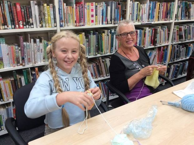 Craft session in South Emsall library. Photo credit: Wakefield libraries