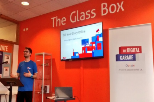 Google Digital Garage in the Glass Box. Credit: Somerset Libraries