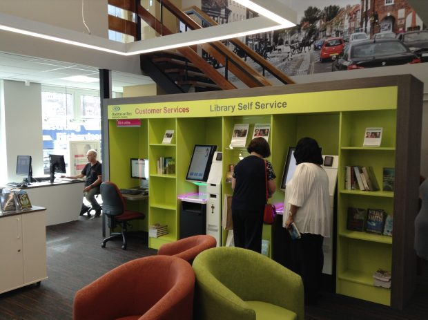 Inside the refurbished library