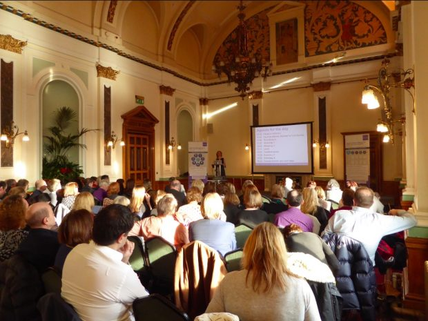 Opening session in the Banqueting Room, Birmingham Council House. Photo credit: Julia Chandler/Libraries Taskforce