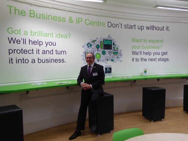 Taskforce Chair and Chief Executive of Northamptonshire County Council Paul Blantern in the new BIPC in Northampton library.