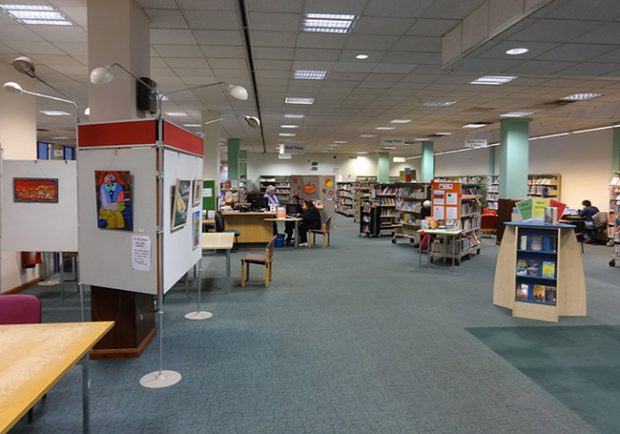 Stanmore library before the rebrand and refurbishment. Photo credit: CarverHaggard.