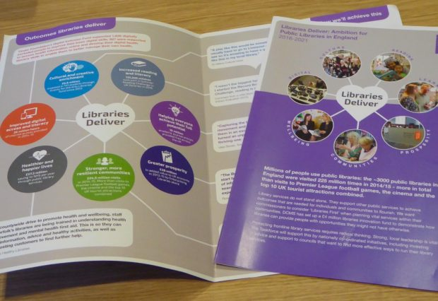 Libraries Deliver: Ambition 4 page brochure. Image credit: Julia Chandler/Libraries Taskforce