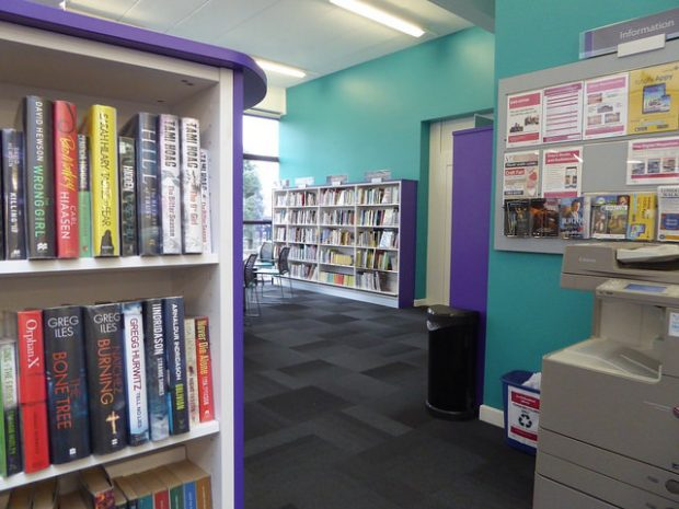 Inside South Woodford library