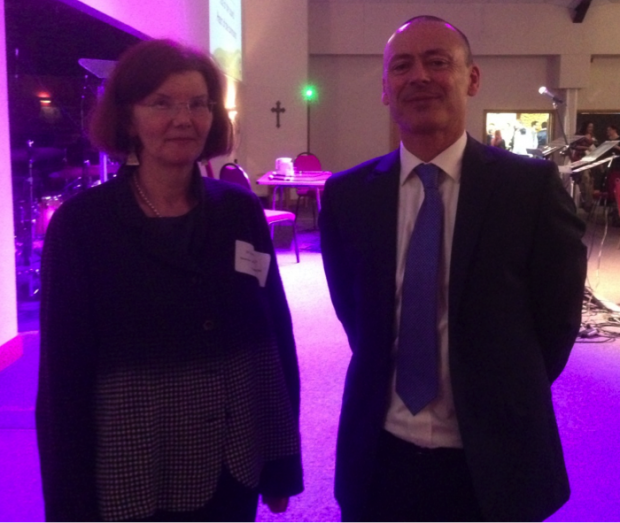Dr Jane O'Grady (Director of Public Health), and David Jones (Head of Community Focus). Photo taken by Waseem Hafiz
