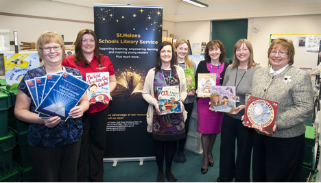 Schools Library Service and Speech and Language Service launch BLUSH April 2016. Photo credit: St Helens libraries