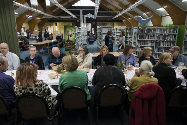 Bootle community meal. Photo credit: Sefton libraries