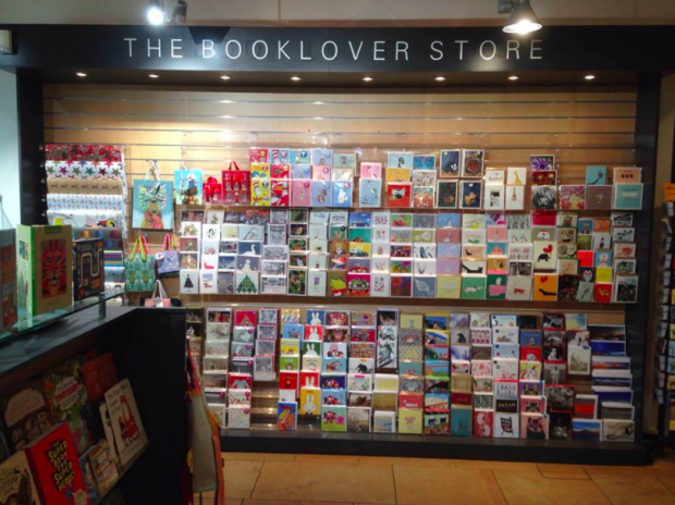The Booklover Store in Brighton's Jubilee library. Photo credit: Brighton and Hove City libraries
