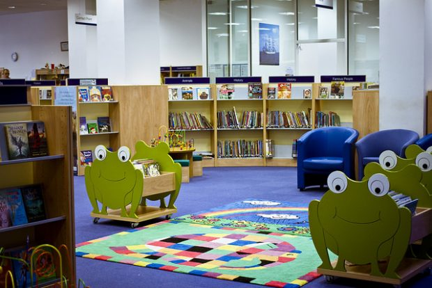 Children's area at Erith Library , Bexley, Kent. Photo credit: Bexley libraries