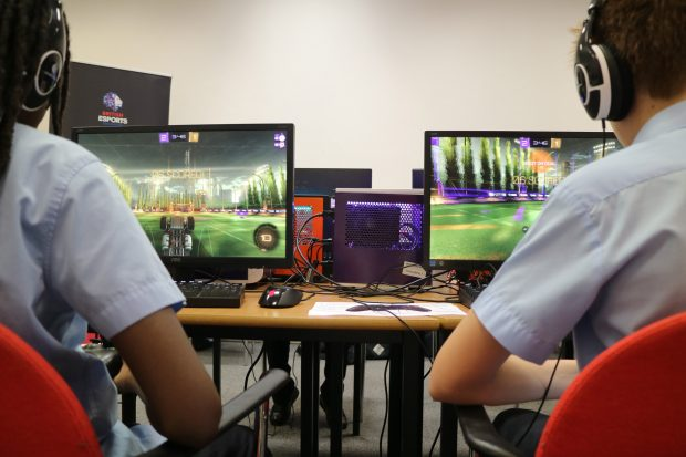 Participants in one of the pilot esports session