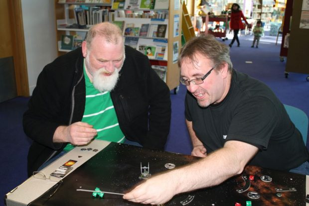 Playing X Wing in Bournemouth library. Photo credit: Bournemouth Borough Council