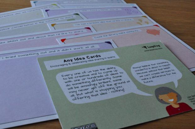 Ideas cards. Photo credit: Neil Stewart
