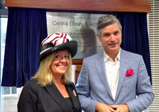 Ms Virginia Lloyd and Dr Jonathan Foyle at the opening ceremony. Image credit: Neil Stewart
