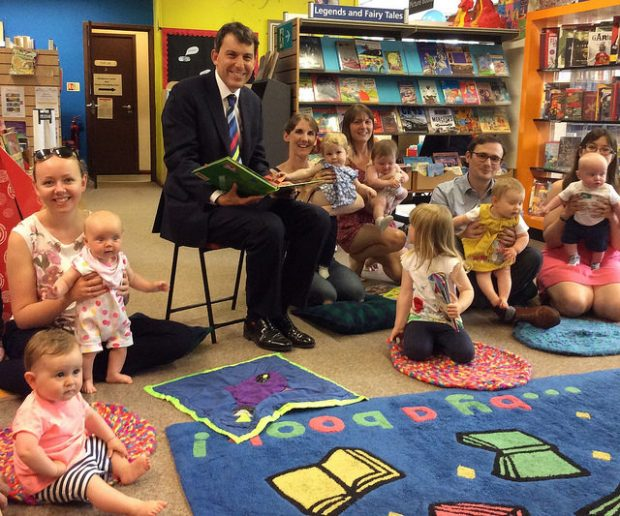 Rhymetime in Salisbury library. Photo credit: Sarah McQuillen