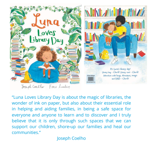 Luna loves library day - poster