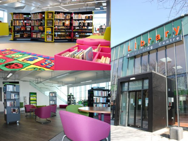 Some of Manchester's refurbished libraries: clockwise from top left: Brooklands, Longsight and Beswick. Photo credits: Manchester libraries