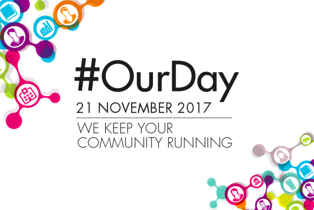 graphic containing date: 21 November 2017 and hashtag: #ourday