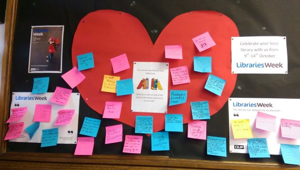 Libraries Week display in Skipton library. Photo credit: Kathy Settle/Libraries Taskforce
