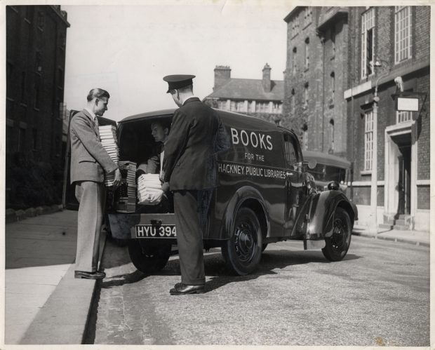 Early delivery van. Photo credit: Hackney archives